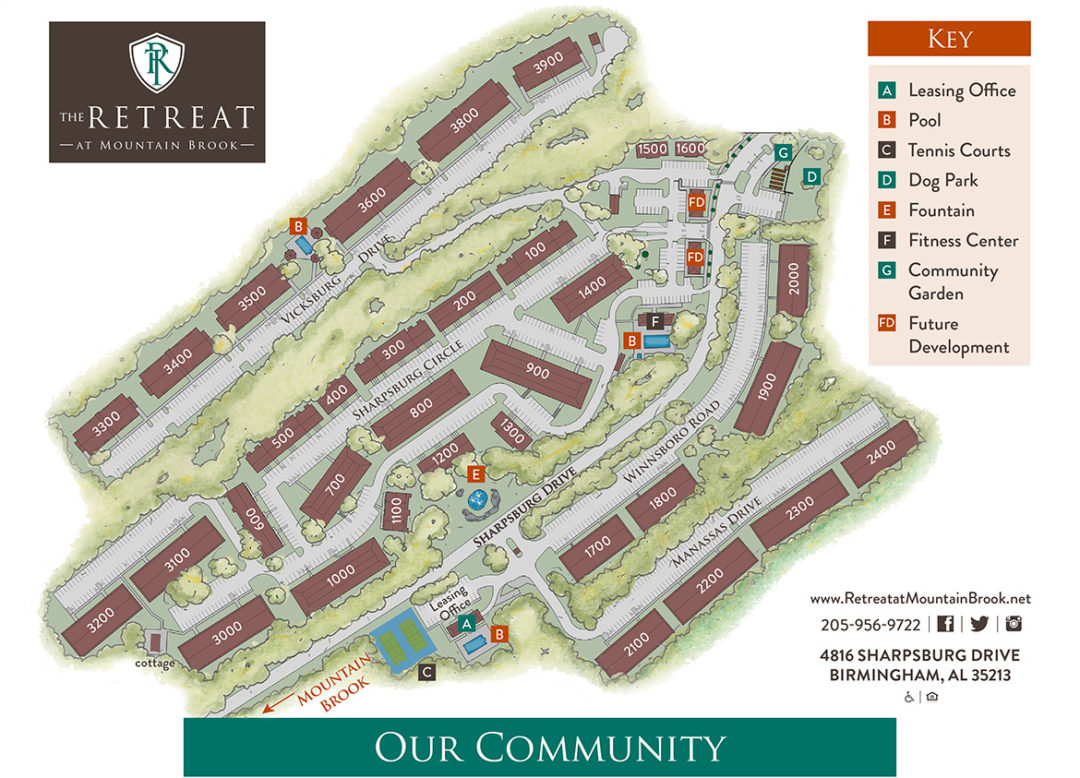 Retreat at Mountain Brook - Community Map