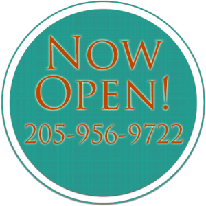 Now Open! Call 205-956-9722