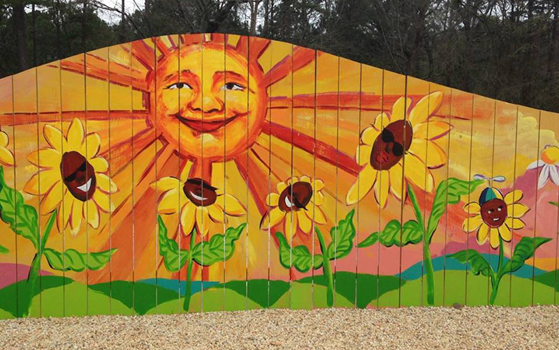 Community Garden Art Wall