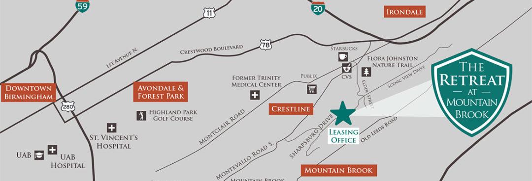 Location. Location. Location. Retreat at Mountain Brook.