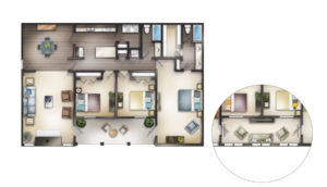 three bedroom floor plans