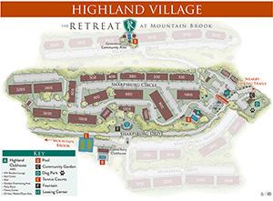 Highland Village map
