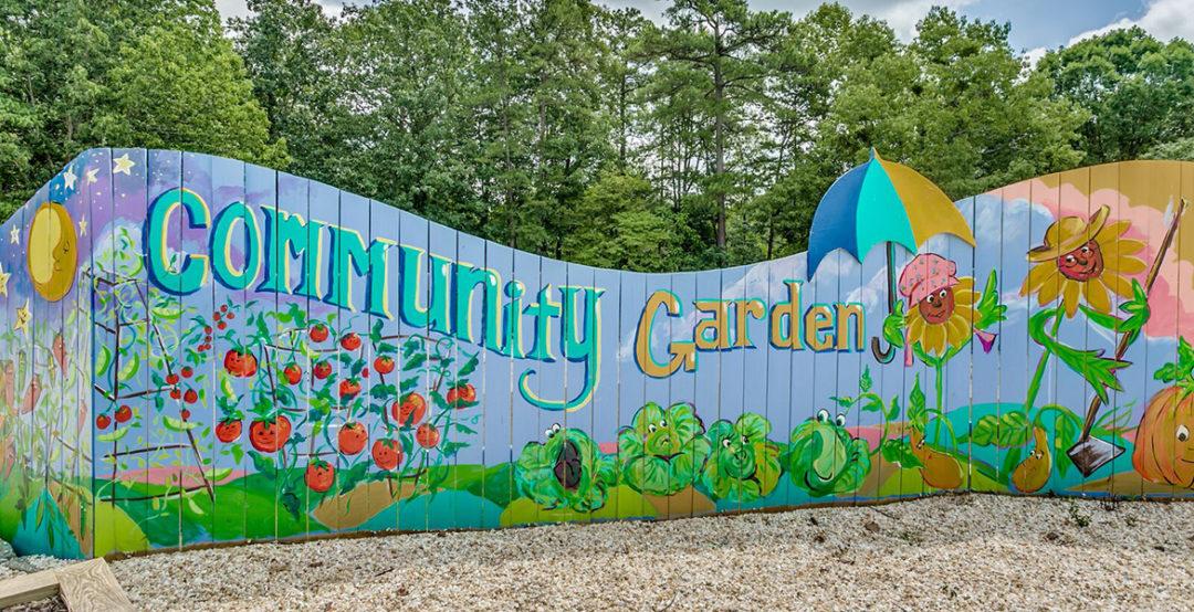 Community Garden Art Wall