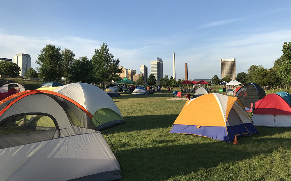Railroad Park Family Camp Out