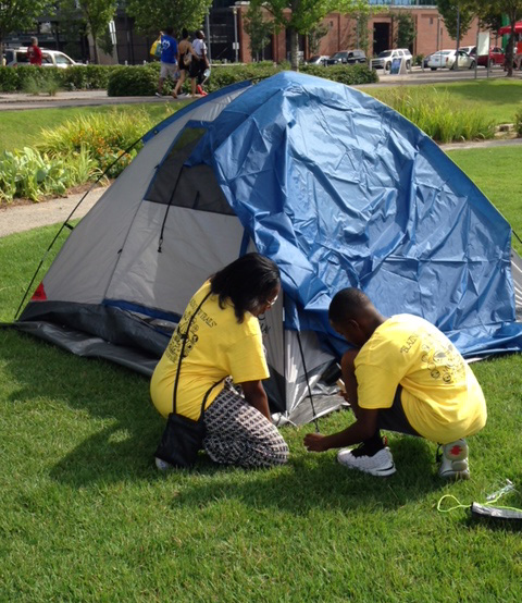 Railroad Park Family Camp Out Night