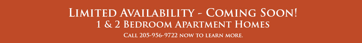 Limited Availability - 1 & 2 Bedroom Apartments